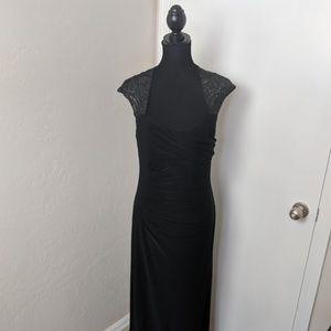 12 Black Ralph Lauren Evening Gown